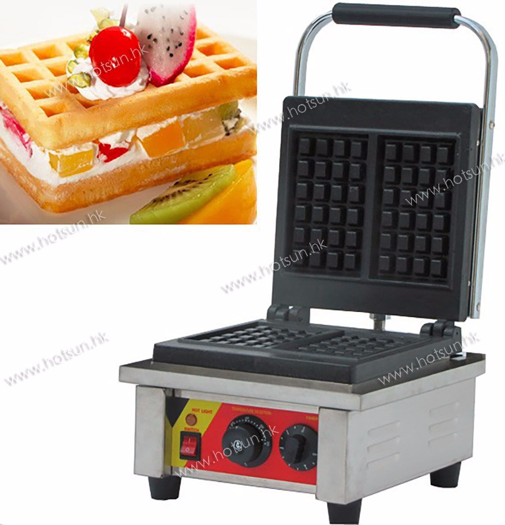 Commercial Non-stick 110V 220V Electric Belgian Liege Waffle Maker Iron Baker Machine commercial non stick 110v 220v digital electric 23pcs walnut waffle maker iron machine