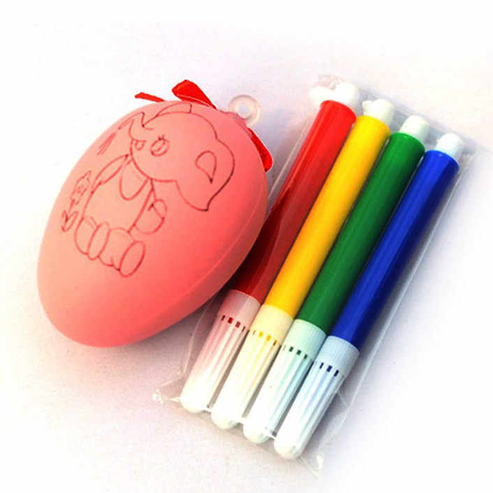 ภาพวาดสีไข่น้ำสีปากกาเด็ก DIY ของเล่นอีสเตอร์ไข่การศึกษาของเล่นเด็กสีสุ่ม 2019
