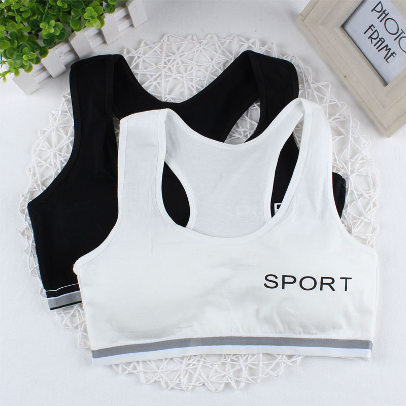 Women Sexy Letter Print Cotton Seamless Wire Free Wrapped Chest Comfort Bra Underwear Tube Top Bandeau Top Intimate YRD