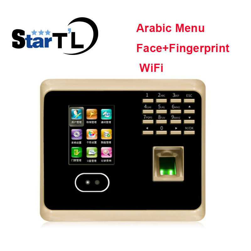 цена Free Shipping Arabic Menu WiFi UF100Plus Tcp/ip+Wifi Biometric Face Time Recording Attendance System онлайн в 2017 году