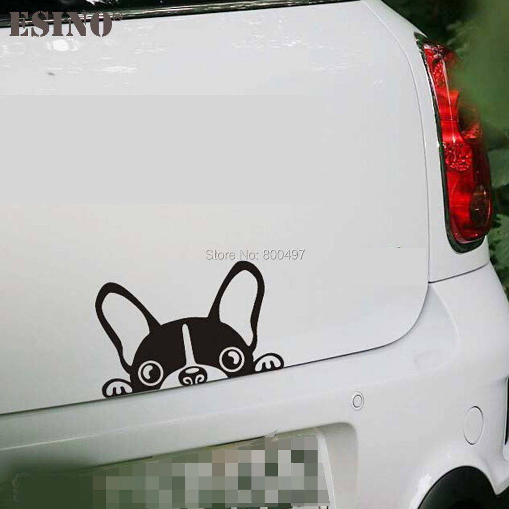<font><b>10</b></font> x Newest Design Cartoon Car Styling Funny Dog Lovely Doggie Decal Decoration Car <font><b>Windows</b></font> Bumper Body Accessories <font><b>Stickers</b></font> image
