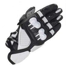 Motocross Gloves Real Leather Sports racing Moto gp Waterproof Motorcycle
