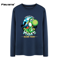 Flevans 2017 New Brand T Shirts Fashion O Neck Men T Shirt Casual Long Sleeve T