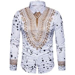Image 1 - เสื้อใหม่ผู้ชายลำลองเสื้อ 3D การพิมพ์สไตล์แห่งชาติรูปแบบดอกไม้เสื้อผู้ชายแฟชั่น Edition เสื้อแขนยาว 3XL