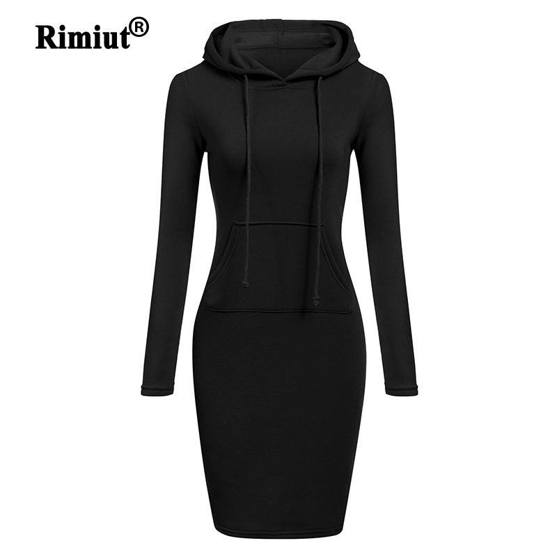 Rimiut Hoodied Casual Women Autumn Winter Pullovers Hoodies Fashion Sweatshirt Long Sleeve Jumper Hooded Hoodie Dress S-2XL Plus