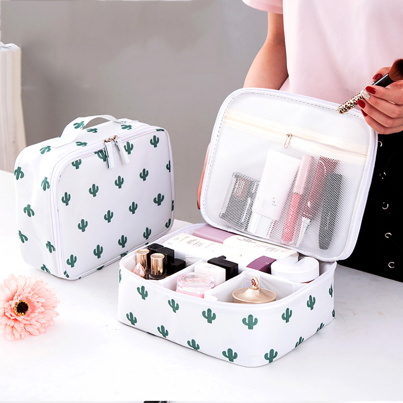 Yesello Vanity Necessaire Trip Women Travel Toiletry Wash Bra Underwear MakeUp Makeup Case Cosmetic Bag Organizer Accessories