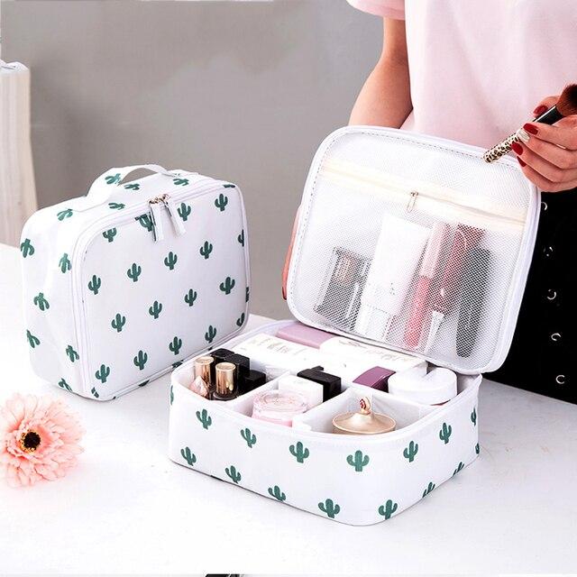 9e459ff052 Yesello Vanity Necessaire Trip Women Travel Toiletry Wash Bra Underwear MakeUp  Makeup Case Cosmetic Bag Organizer