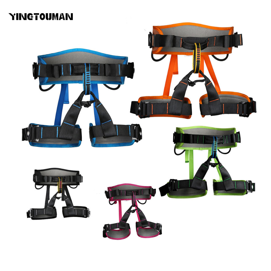 YINGTOUMAN Hot Outdoor Equipment Harness Bust Seat Harness Seat Belts Outdoor Sitting Safety Belts Rock Climbing Rappelling Tool 25kn professional carabiner d shape safety master lock outdoor rock climbing buckle equipment