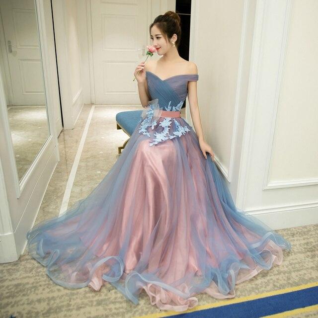 0e7d7a131 Romántico 2 tonos bola vestidos de baile de graduación vestidos 2019 vestido  de fiesta vestidos de