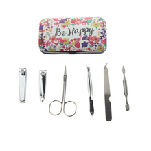 6Pcs/Set High Quality Pocket Nice Women Girl Travel Home Nail Care Pedicure Gift Tool Product Manicure Set Kit