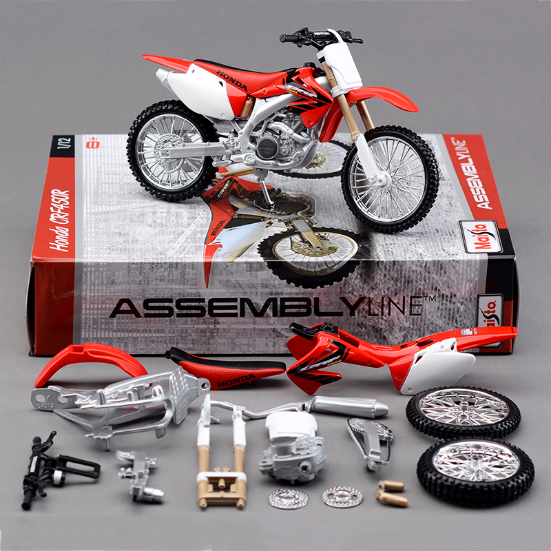 Maisto H CRF450R Off-Road Motorcycle Model 1:12 scale metal diecast models motor bike miniature race Toy For Gift Collection цена 2017