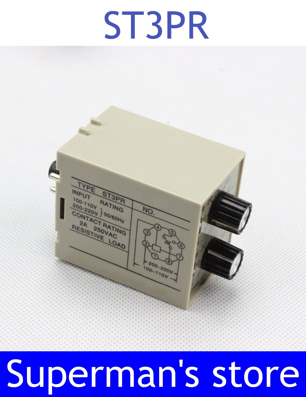ST3PR electrical time relay Electronic Counter relays digital timer relay with socket base AC 220V switch cg8 digital counter ac 110 220v