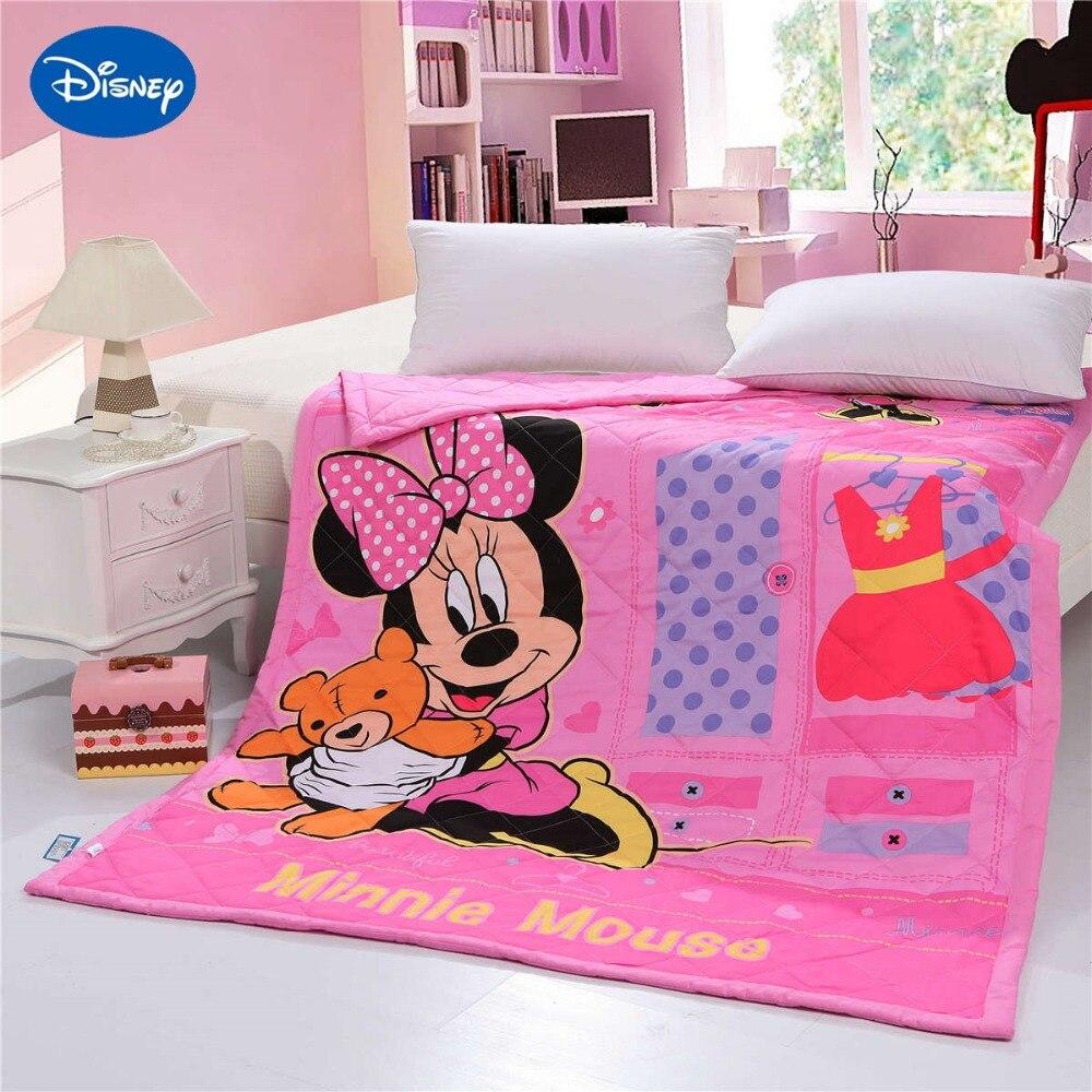 Minnie Mouse courtepointes couette chambre décor literie coton tissé coquille 150*200cm 200*230cm haute qualité été saison filles bébé