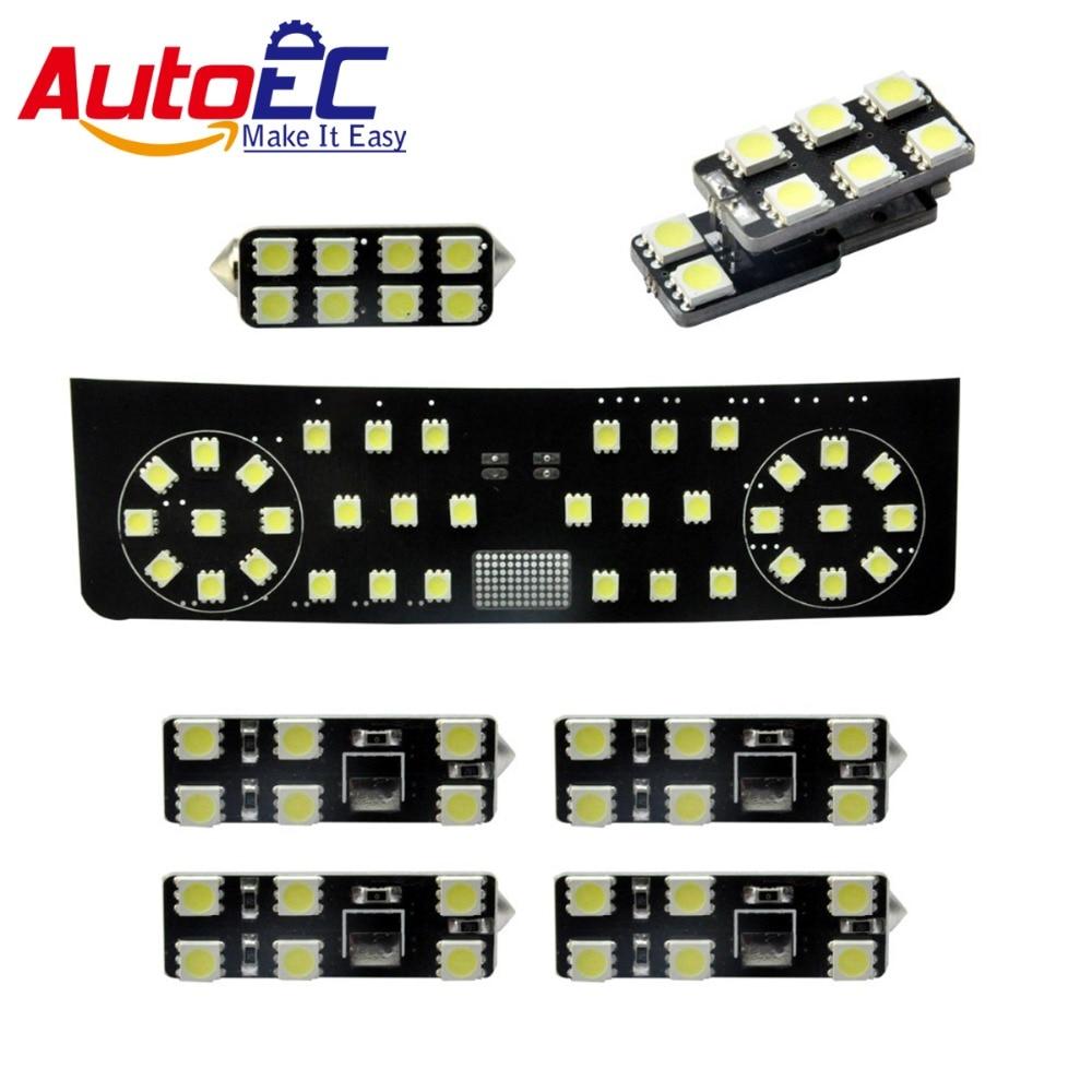 AutoEC 7pcs/set Car Led Interior Dome&Map Reading Lights panel truck lamp kit 12v for vw Golf Variant Magotan Alltrack #LDK02
