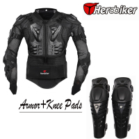 Motorcycle Riding Body Armor Jacket With Knee Pads Set Motorcross Off Road Dirt BIke Racing Protectors