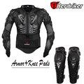 Equitação da motocicleta Body Armor Jacket com Joelheiras Definir Protetores de Motocross Off-Road Da Bicicleta Da Sujeira de Corrida Equipamentos de Proteção