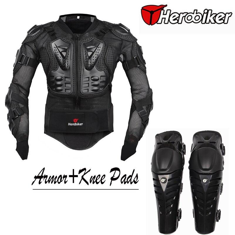 Moto équitation armure de corps veste avec genouillères Set Motorcross tout-terrain Dirt BIke course protecteurs équipement de protection