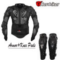 Motorcycle Riding Body Armor Jacket with Knee Pads Set Motorcross Off-Road Dirt BIke Racing Protectors Protective Gear
