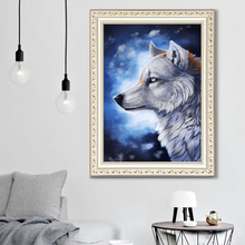 DIY diamond painting lonely wolf 5d icon embroidery mosaic decoration new year gift