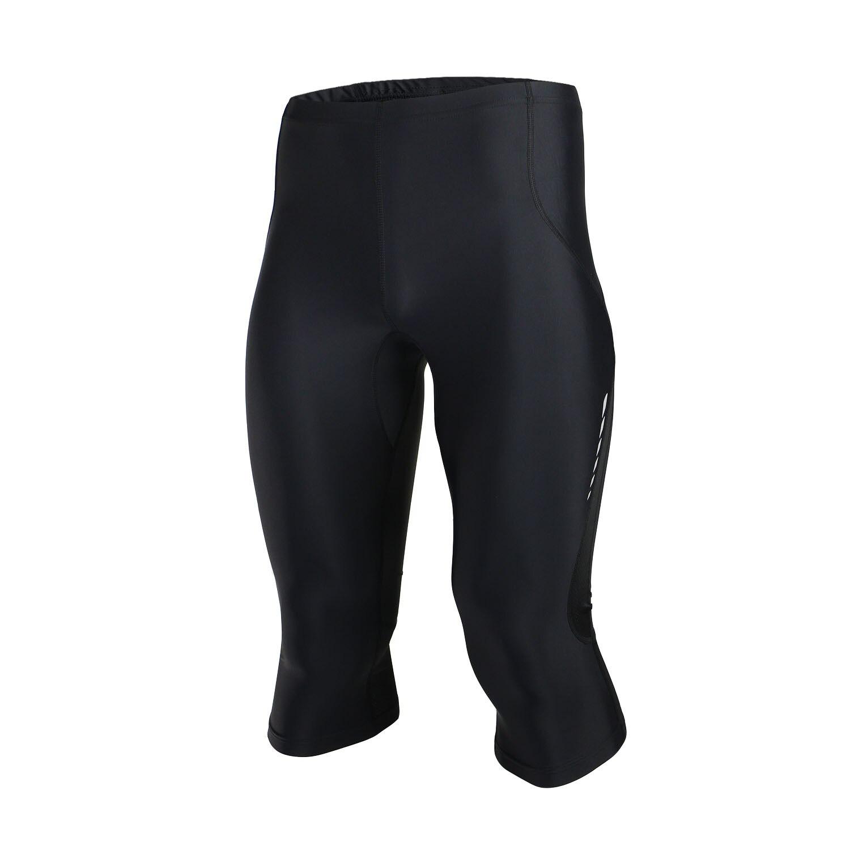Merek Musim Panas Pria Reflektif Lari Celana Pendek Tights Kompresi Cepat Kering Gimnasium Kebugaran Latihan Olahraga Legging 3 4 Celana Panjang