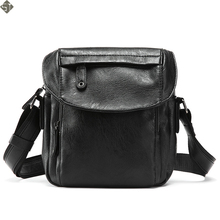 Casual Men Crossbody Bag Fashion Leather Shoulder Bag Casual Black Business Mens Hand bag For Phone High Quality Travel