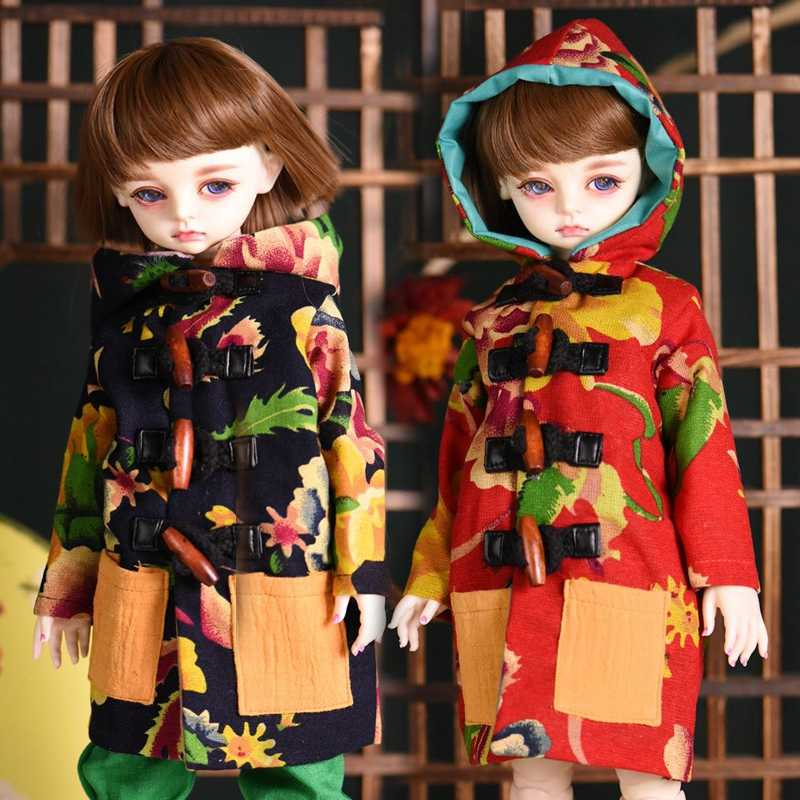 1/4 Handmade Fashion Flower Coat Pants BJD SD Doll Clothes For Height 38-45CM Doll Accessories  Toys For Children Birthday Gifts