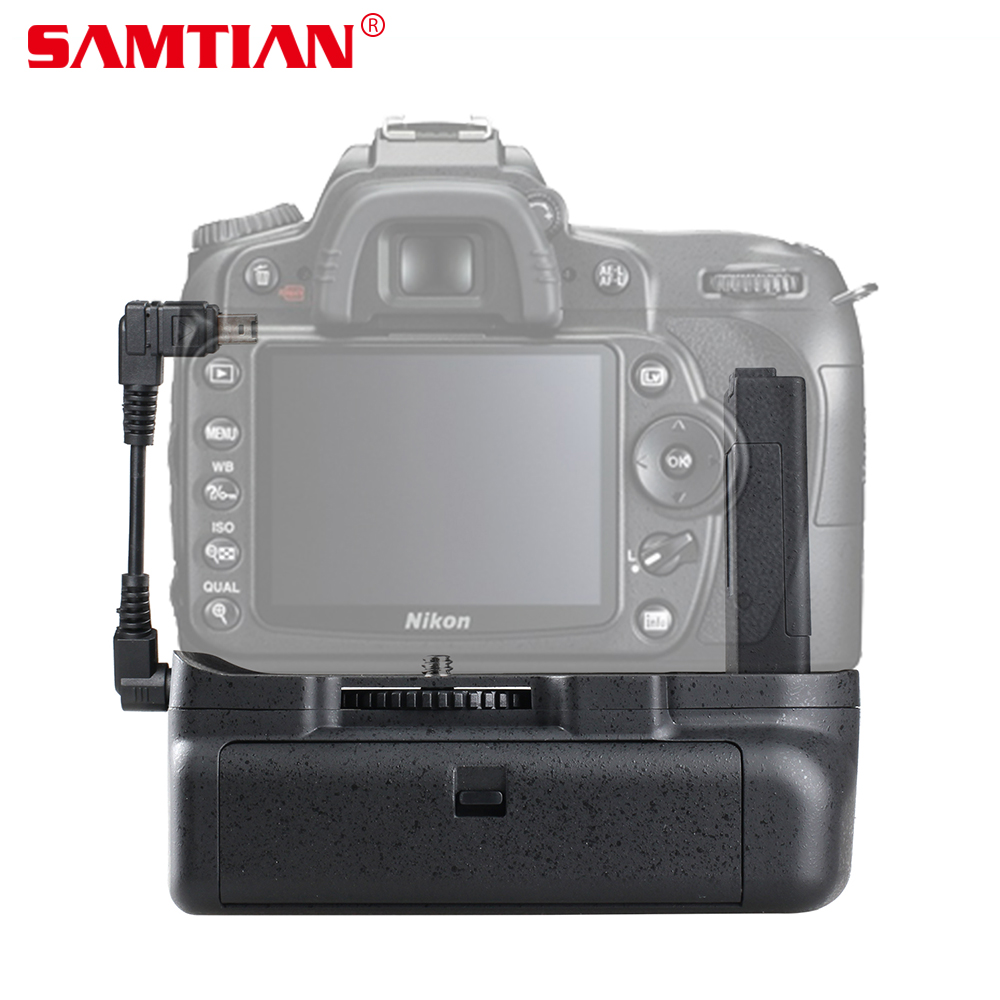 SAMTIAN Vertical Battery Grip for Nikon D5100 D5200 D5300 DSLR Camera work with EN-EL14 Battery