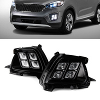 Car LED Lights Driving DRL Auto White Daytime Running Light Fog Lamps For KIA Sorento 2015