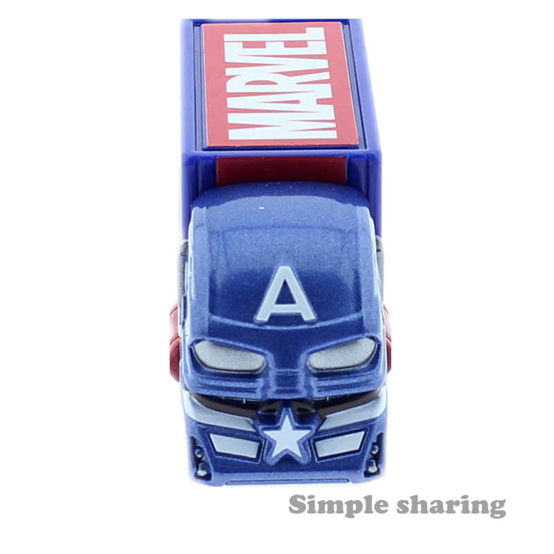 TAKARA TOMY Tomica Marvel Tune EVO 6.0 Avengers Truk Mainan Tokoh Anime Captain America Mainan Bayi Diecast Miniatur Mobil Model kit