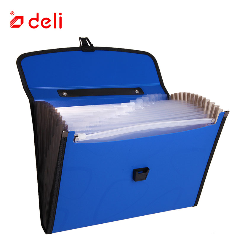 Deli A4 Size Folder Document Bag Expandable Filing Storage Document File Folder Organizer Expander Holder Bag Business Briefcase deli canvas file folder document bag business briefcase a4 paper storage organizer bag stationery school office supplies student