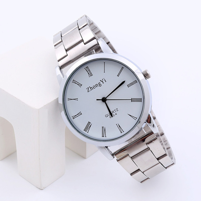 Luxury Fashion Ladies Watches Silver Men Women Watch Couple Stainless Steel Analog Quartz Wrist Watch Female Clock Dropshopping