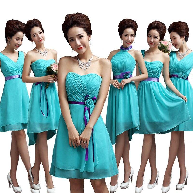 Aquamarine Bridesmaids Dresses - Ocodea.com