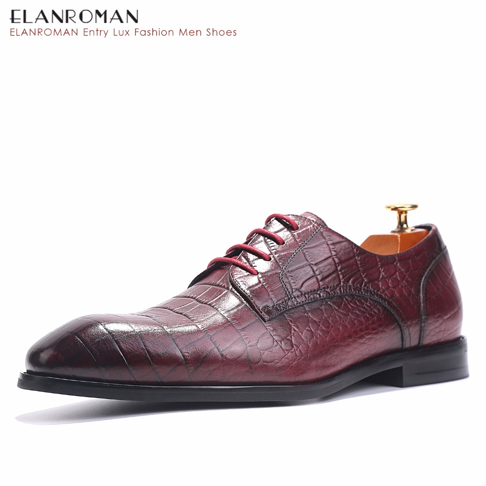 Fashion Luxury Crocodile Pattern Embossed for White-collar Workers Men Business Dress Derby Shoes Leather паяльник bao workers in taiwan pd 372 25mm