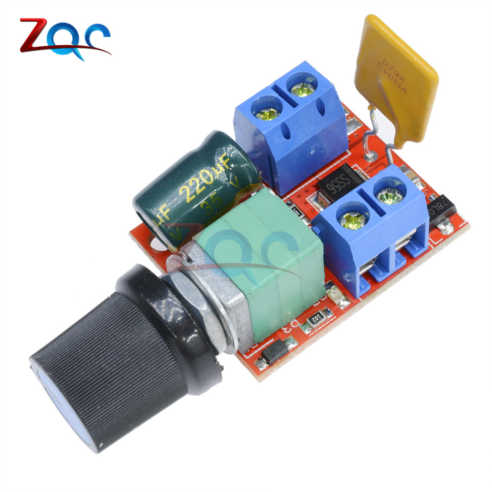 Mini 5A PWM Max 90W DC Motor Speed Controller Module 3V-35V Speed Control Switch LED Dimmer Hot Sale 5pcs lot intersil isl8121irz isl8121qfn 3v to 20v two phase buck pwm controller with integrated 4a mosfet drivers