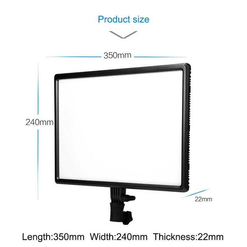 Luxpad43 H 14 painel de led 3200 k 5500 k câmera fotografia vídeo studio luz com adaptador ac para canon nikon sony pentax panasonic - 2