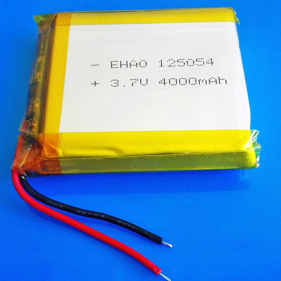 3.7V 4000mAh lithium polymer Rechargeable Lipo battery for GPS DVD PDA PAD power bank e-book camera tablet PC laptop <font><b>125054</b></font> image