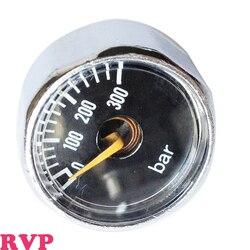 FREIES VERSCHIFFEN PCP Paintball HPA 1 Zoll Manometer 300Bar Schwarz 1/8NPT 1 LOS = 2 STÜCKE
