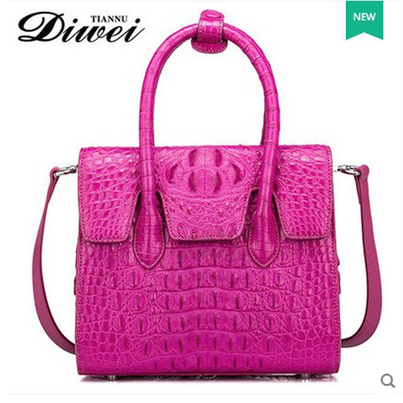 Diwei 2017 new lady crocodile women handbag large capacity one-shoulder bag woman bag  genuine leather brand polo genuine new women golf bag waterproof capacity lady standard ball bag embroidered package contain full set of club