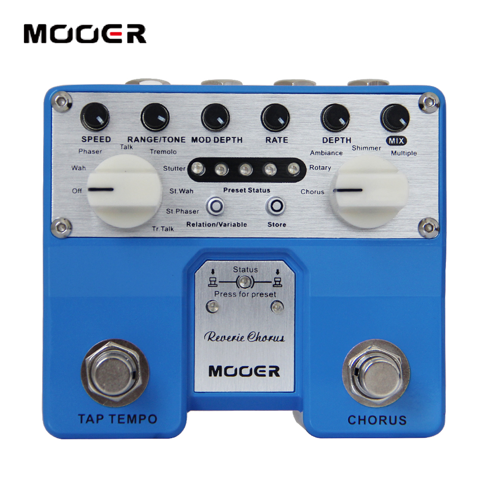 MOOER Twin Series Reverie Chorus Digital Chorus Pedal with Five Chorus Modes Guitar effect pedal стоимость
