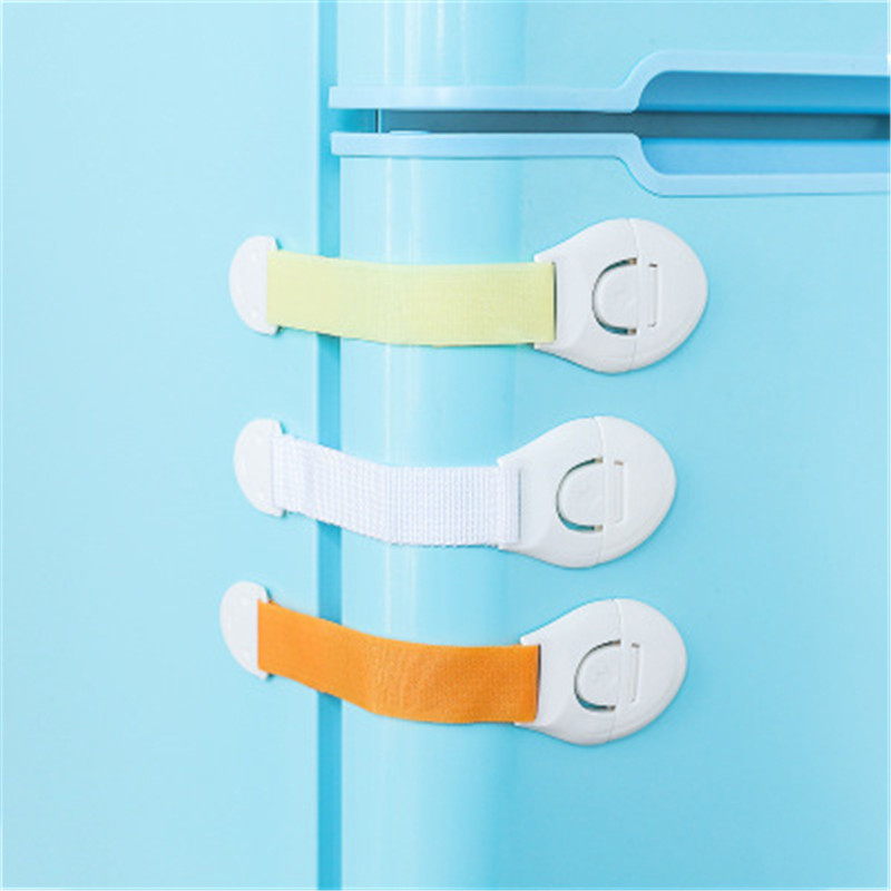 Baby 5Pcs/Lot Drawer Lock Cabinet Door Lock Children Security Protection Refrigerator Lock Toilet Window Kid Plastic Safety Lock
