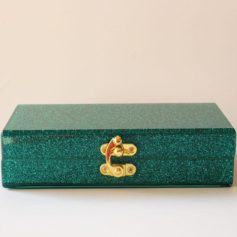 Πράσινο Glitter Ακρυλικό βράδυ Γυναικεία - Τσάντες - Φωτογραφία 6