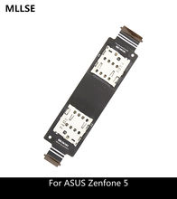 Single / Dual SIM Flex Cable for ASUS Zenfone 5 A500CG A501CG T00J A500KL SD Card Reader Slot Replacement(China)