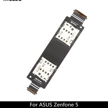 Single / Dual SIM Flex Cable for ASUS Zenfone 5  A500CG A501CG T00J A500KL SD Card Reader Slot Replacement