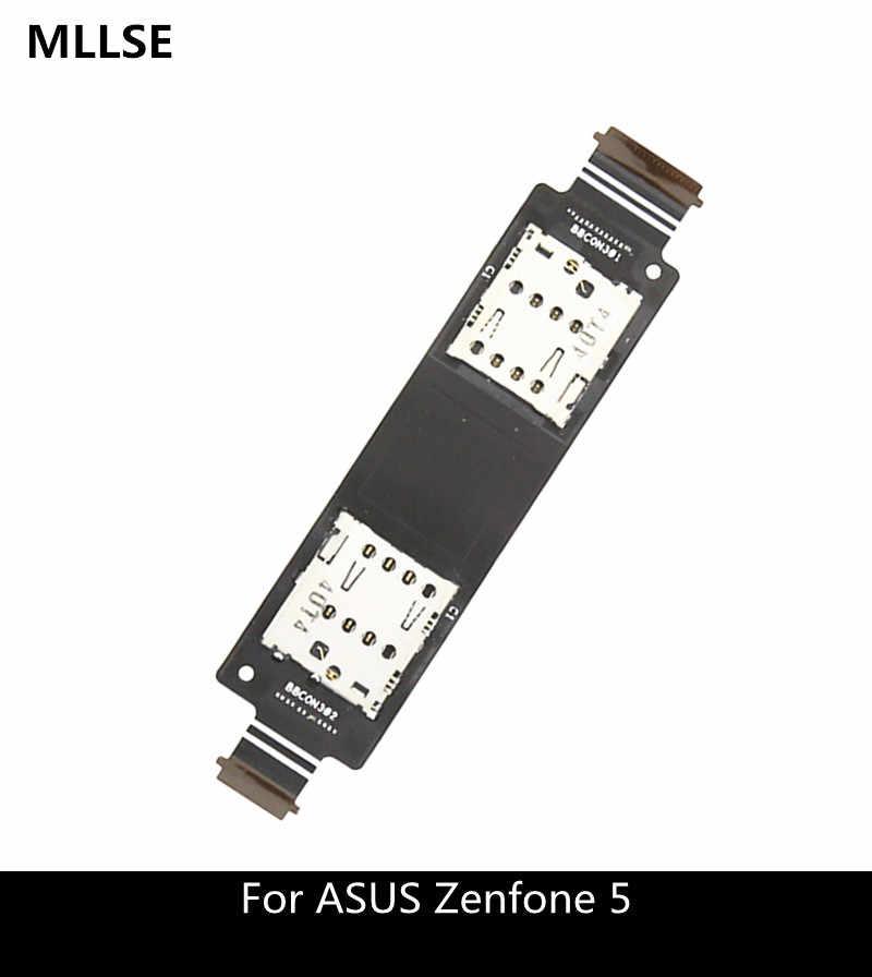 واحدة/المزدوج سيم فليكس كابل ل asus zenfone 5 A500CG A501CG T00J A500KL قارئ بطاقة sd فتحة استبدال