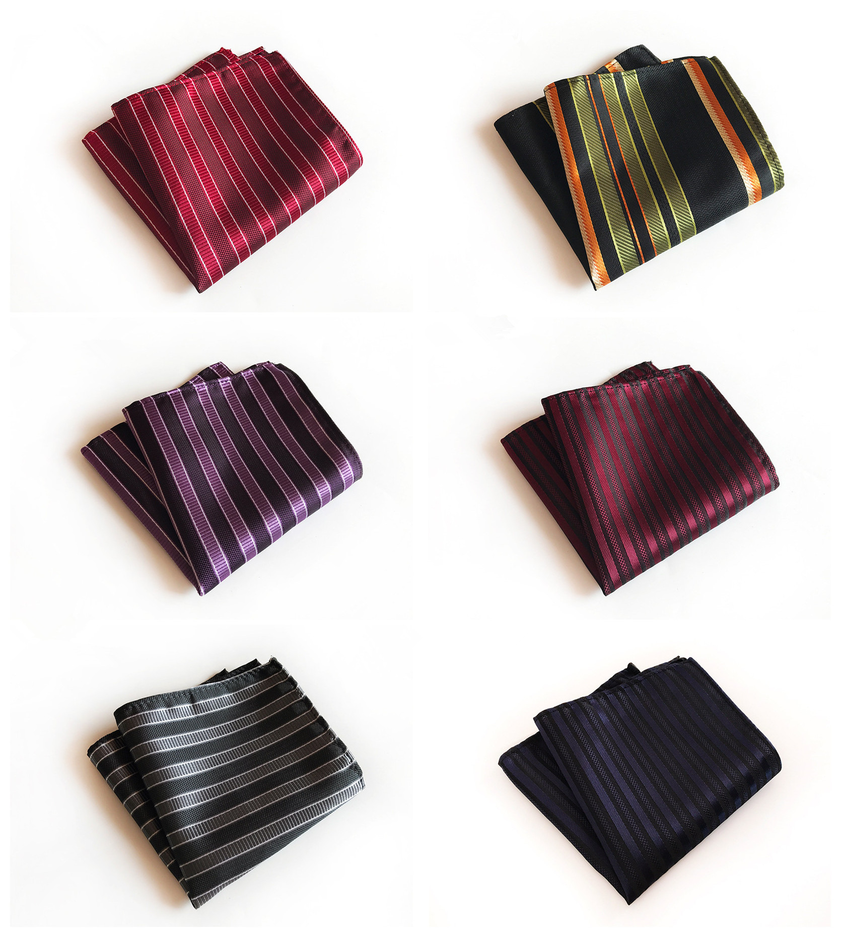 Unique Design Retro 25x25cm Polyester Pocket Towel Fashion Explosion Models Monochrome Business Dress High Quality Pocket Towel