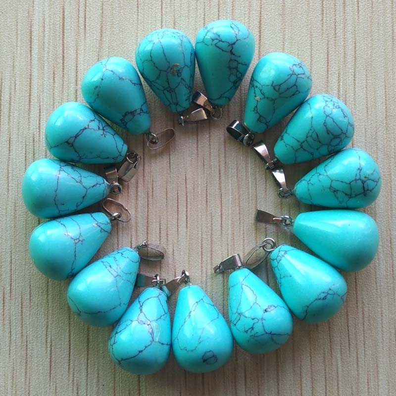 Image 3 - Free shipping 50pcs/lot wholesale assorted mixed natural stone water drop  pendants Charms fit Necklaces jewelry making-in Pendants from Jewelry & Accessories