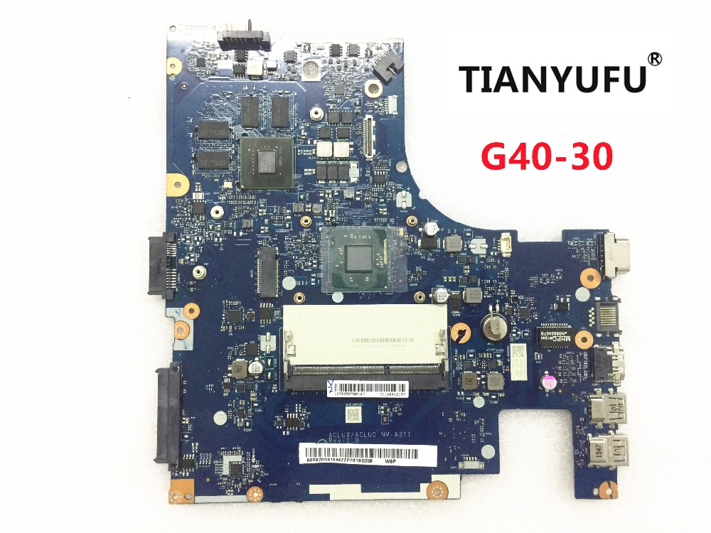 NM A311 Notebook PC Motherboard For Lenovo G40 G40 30 Main Board 14 Inch N2840 2