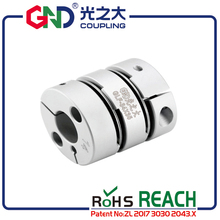 GND flexible coupling high sensitivity shaft 8mm 12mm double diaphragm bore disc elastic torsionally