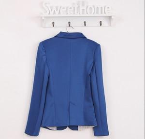 Image 5 - Blazer Chaqueta de traje para mujer, chaqueta de marca plegable hecha de algodón y LICRA con forro, Blazers de moda refrescante, envío rápido