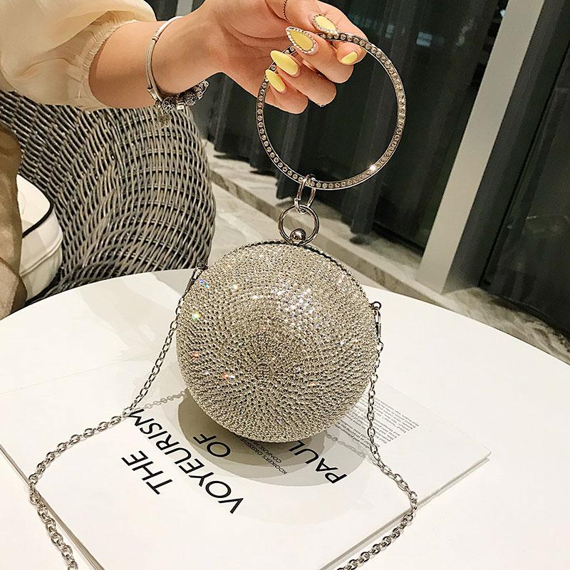 Корейская версия, маленькая сумка для девочек, новинка 2019 года, летняя женская сумка на плечо, модная маленькая круглая сумка - 2